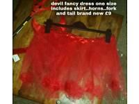 Devil fancy dress costume