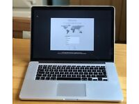 "Macbook Pro 15"" 2.5GHz quad core i7 (2015) 16GB / 512GB SSD - Retina Display, Applecare"