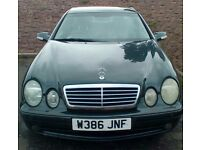 4.3 V8 , 275 bhp ; MERCEDES BENZ CLK 430 SPORT AMG , AUTO COUPE , W .REG ,2000 ..NEEDS REPAIRS ..