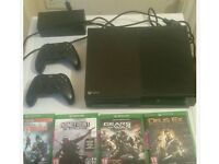 Xbox one console plus 2 controllers and games