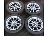 "16"" Genuine BMW 1 Series F20 F21 Alloy Wheels & Tyres 205/55R16 5x120 Fits 3 Z3 Z4 4 VW T5 Transport"