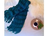 Beautiful Turquoise and Blue Lightweight Scarf