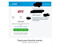 UFC 205 FACE VALUE TICKETS FOR SALE CONOR MCGREGOR VS EDDIE ALVAREZ