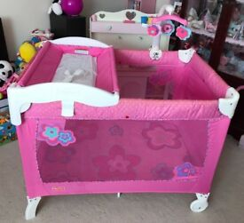 Pink Fisher Price Travel Cot!
