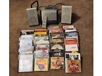 Panasonic CD player/Radio plus over 70 CDs