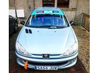 Peugeot 206 Gti track/road swap motocross bike
