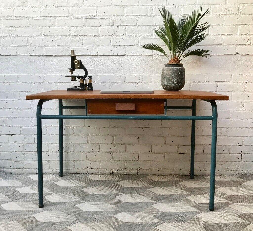 Vintage Wooden Desk With Drawer 507