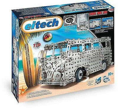 Eitech 01955 - Metallbaukasten 60 Jahre Busmodelle Set, 720-teilig VW Bulli