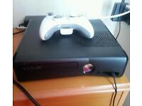 Xbox 360 (newest model) 250gb with games and 1 controller