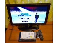 """SAMSUNG 26"""" HDTV with FREEVIEW & SONY DVD PLAYER."""