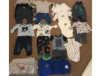 3-6 months baby boy clothes bundle