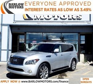 2013 Infiniti QX56 7 PSNGR*EVERYONE APPROVED* APPLY NOW DRIVE NO