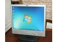 "HP Pavilion f1523 15"" Flatscreen Computer Monitor With built in Speaker"