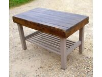DINING LIVING SHABBY CHIC BESPOKE HAND MADE FARMHOUSE TABLE IN ANTIQUE SOLID OAK
