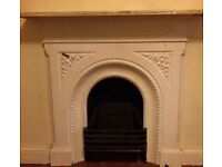 Original Victorian Cast Iron Fireplace