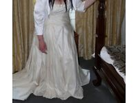 White rose plus wedding dress size 26