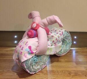 High Quality Baby Girl Nappy Cake Motor Bike. New Baby/Baby Shower Gift