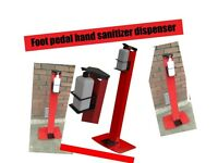 Professional Foot Pedal Operated Sanitizer Dispenser Stand Hands Free Station