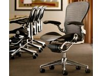 Herman Miller Aeron Polished Chrome Office Chair, Size B - Great condition
