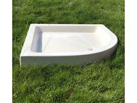 Stone resin shower tray (WHITE 90x90)