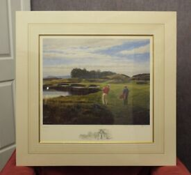 Signed Ltd Edition Golfing Print - Gleneagles by Peter Munro with Certificate - NEW & UNUSED.