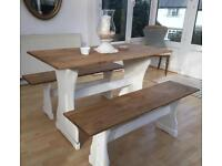 Pine Dining Table & Benches / Chairs