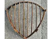 Vintage cast iron hay rack / garden planter