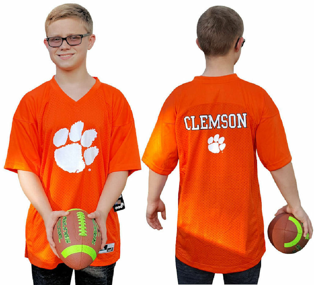 Youth Clemson Tigers Orange Replica Football Jersey by Outerstuff  1da89e7bc