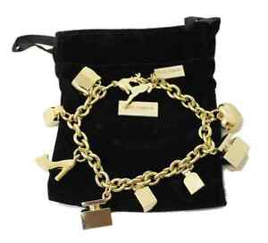 Original Dolce & Gabbana D&G Damen Bettelarmband Armband Charm Bracelet 23cm NEU