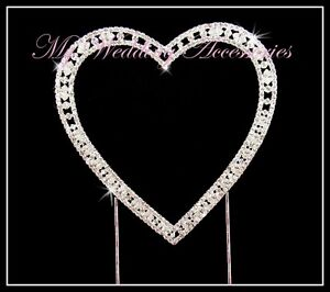 CAKE TOPPER ~ Diamante Letter Wedding Monogram Rhinestone Cupcake Initial Bling!