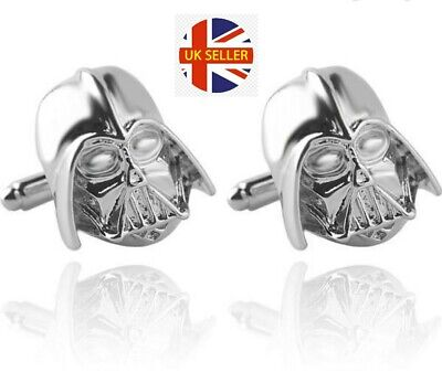 NEW Darth Vader Helmet Cufflinks Star Wars Jedi Skywalker Shirt Mens Gift UK🇬🇧