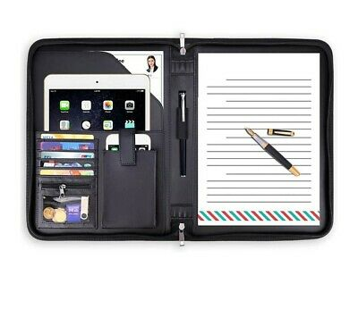 Padfolio Portfolio Business File Organizer With Zippered Pockets Fire And Water