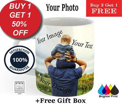 Personalised Photo Mug Cup Custom Design Image Name Logo Text Quality Gift