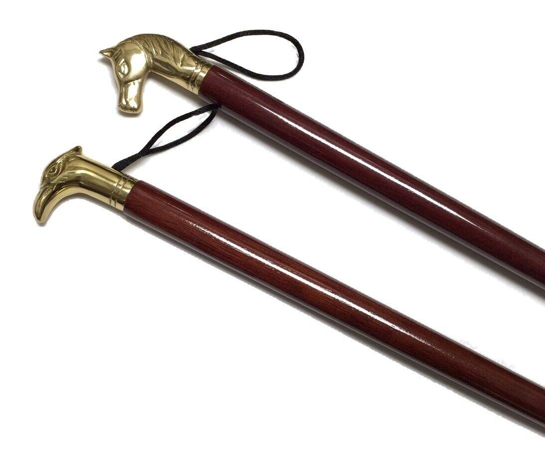 Saphir Imperial Wood & Brass Long-handled Shoe Horn