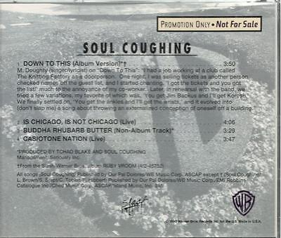 Soul Coughing   Down To This   4 Track Promo Cd Single With Rare Tracks