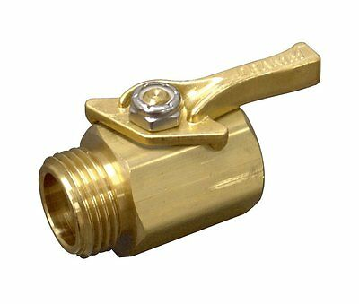 Dramm 12353 Heavy-Duty Brass Shut-Off Valve, New, Free Shipping