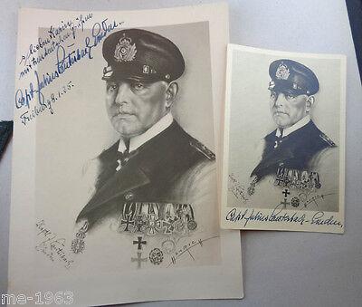 orignal Bild und Bildkarte Kapitän Lauterbach-Emden mit Unterschrift in Tinte