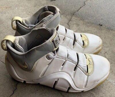 🔥Nike Zoom LeBron IV 4 White Metallic MenSz 9 OG (314647-112)Storm Trooper  3M🔥 26a8b2b9b
