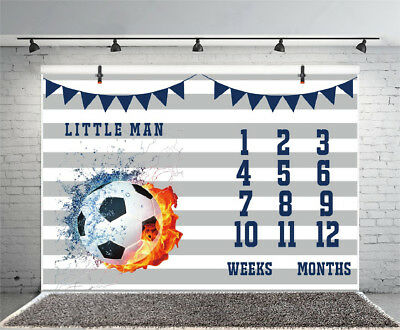 7x5ft Baby Shower Football Theme Backgrounds Photography Props Vinyl Backdrops - Football Themed Baby Shower