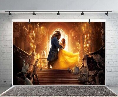 Beauty and the Beast Party Photography Backdrop Vinyl Photo - Beauty And The Beast Party Decorations
