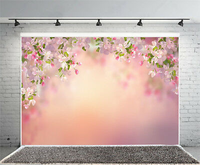 5x7ft Spring Flower Photography Backgrounds Cherry Blossoms Photo Backdrops Prop