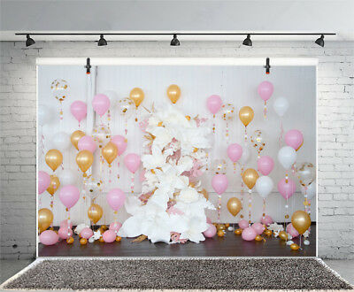 7X5 Balloons Baby Shower Birthday Party Backgrounds Photography Props Backdrops