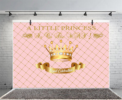Baby Girl Baby Shower Party Backdrop Prop Vinyl Background Studio 10x6.5ft Photo](Baby Girl Background)