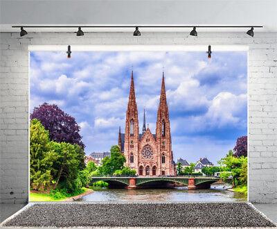Strasbourg City Medieval Protestant Church Photo Backdrop Prop Background Studio](Medieval Backdrops)