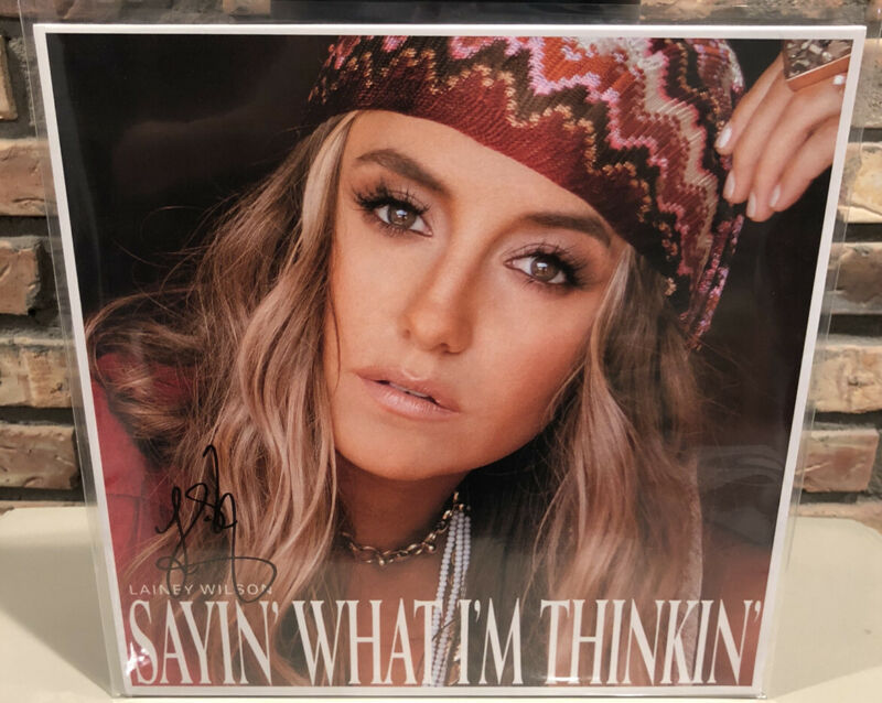 Lainey wilson Sayin What Im Thinkin Signed Red Colored Vinyl Autographed Record