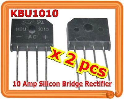 Single Phase 10a 1000v Kbu1010 Diode Bridge Rectifiers 4pin Kbu-1010 X 2 Pcs