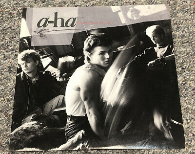 A-HA HUNTING HIGH AND LOW LP US WB ORIGINAL VINYL TAKE ON ME 1985 VG/VG+