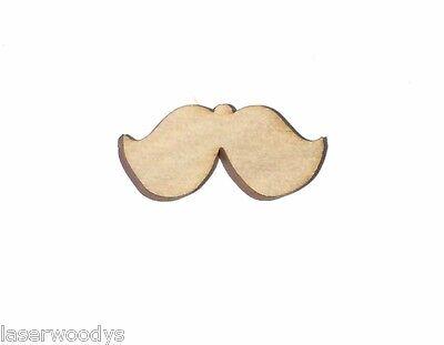 Mustache Unfinished Wood Shape Cut Out M391 Crafts Lindahl Woodcrafts](Mustache Cut Outs)