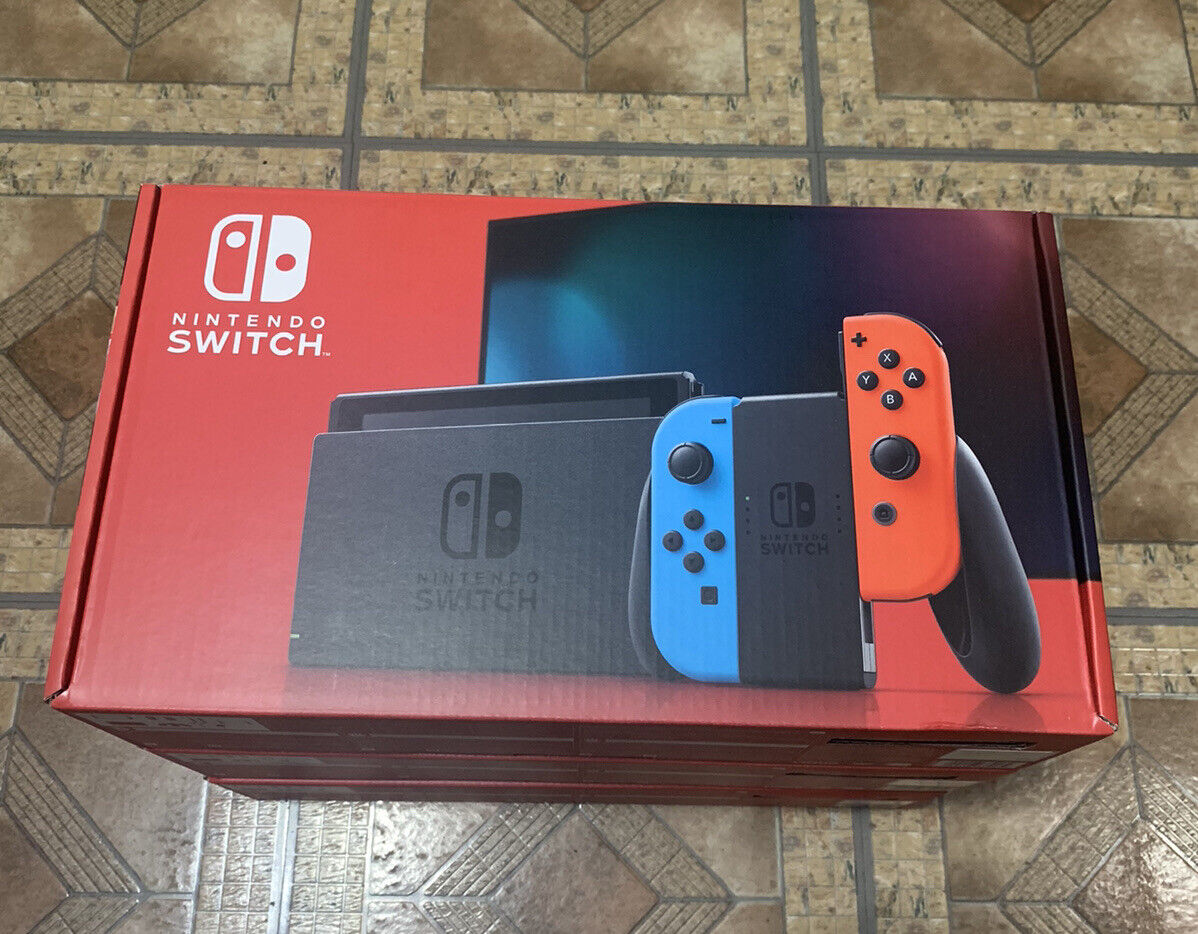 Nintendo Switch 32GB Console Neon Blue Neon Red Joy-Con NEW READY TO SHIP - $360.00