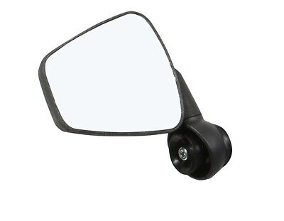 ZEFAL Rückspiegel Dooback 2 LINKS  Konvex Fahrradspiegel schwarz Spiegel Fahrrad (Fahrrad Rückspiegel)